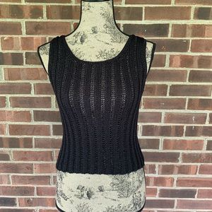 Vintage J. Crew cut out knitted sleeveless top
